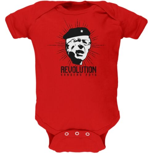 Election 2016 Bernie Sanders Che Guevara Parody Red Soft Baby One Piece