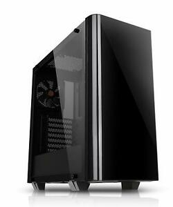 Computer Mid tower PC Case Gaming Chassis by Thermaltake Tempered...