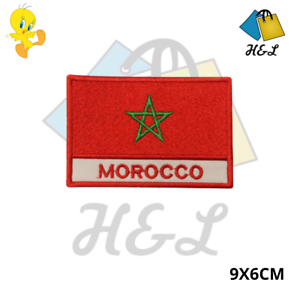 MOROCCO National Flag Embroidered Patch Iron on Sew On Badge For Clothes Bags