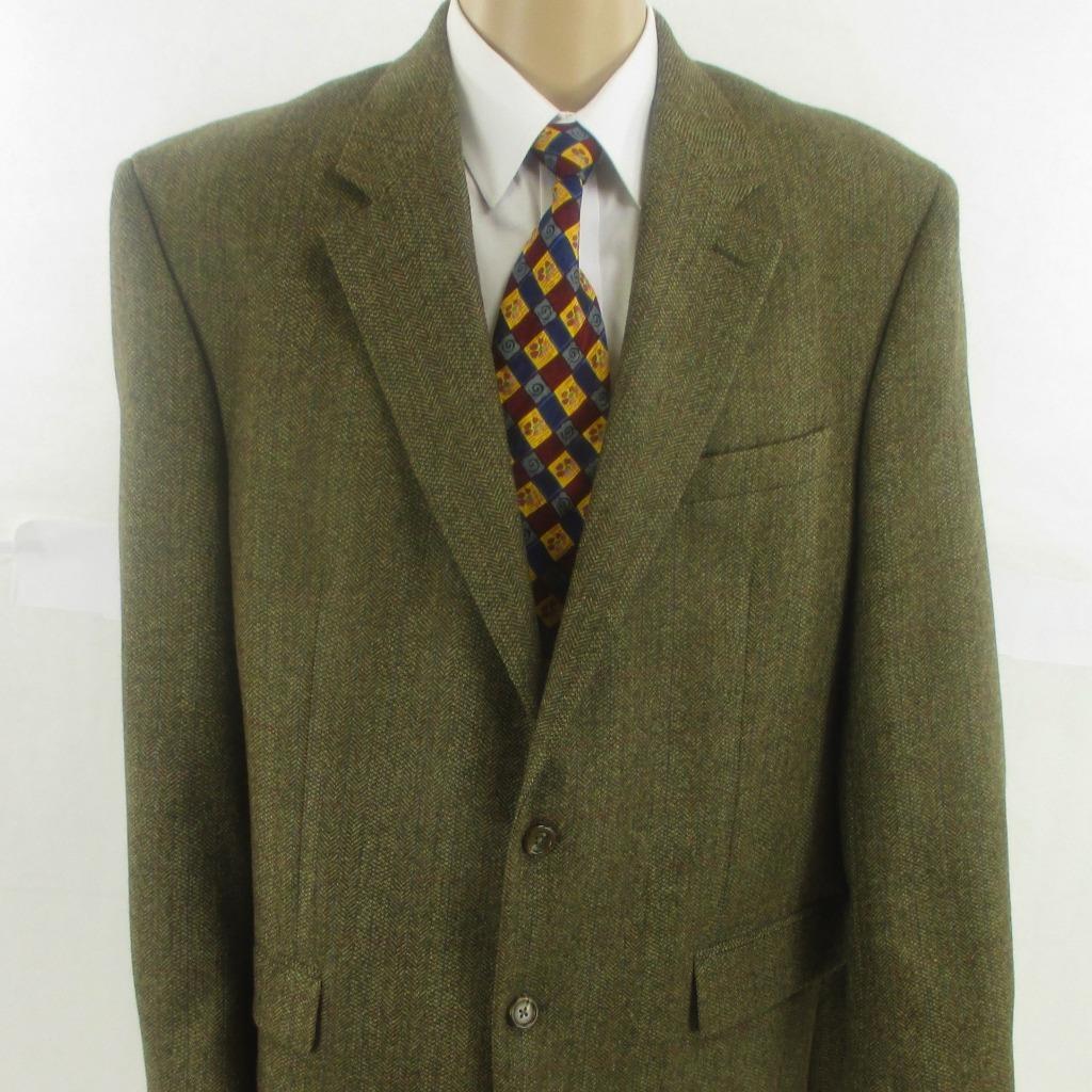 46 L Marrón Tweed corderos lana Ralph Lauren de  Chaqueta de Abrigo Blazer Sport 2Btn para hombre de menta  compra limitada