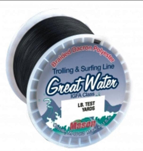 L5 Mason Great Water IGFA Braided Dacron 30lbs 500yds Big Game Fishing Line