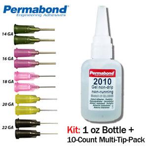Permabond 2010 (1oz Btl+Tip Multipack) Adhesive-Fast Set Gel Non-Sag No-Drip