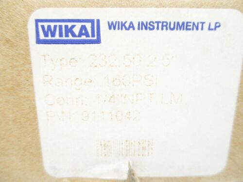 Details about  /WIKA 9111042 160PSI NSMP