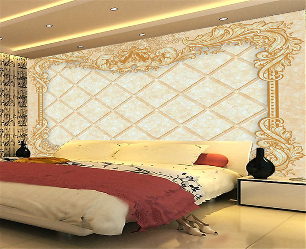 Plain Obscure Grid 3D Full Wall Mural Photo Wallpaper Printing Home Kids Decor
