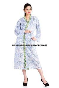 FLORAL-COTTON-ROBE-Kimono-Women-Dressing-Gown-Vintage-Wedding-Bridesmaid