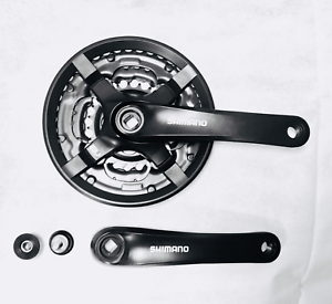 bb0e1212dd8 SHIMANO CRANKSET FC-TY501 6/7/8 SPEED 44/34/24 TEETH BLACK ALUMINUM ...