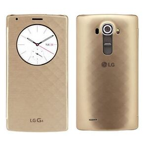 NEW GENUINE LG G4 QUICK CIRCLE QI WIRELESS CHARGING FLIP CASE COVER WALLET GOLD