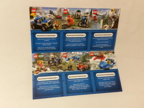 6230619 LEGO® CITY NEU // OVP  IDEALES GEBURTSGESCHENK 4 teiliges Übungsset