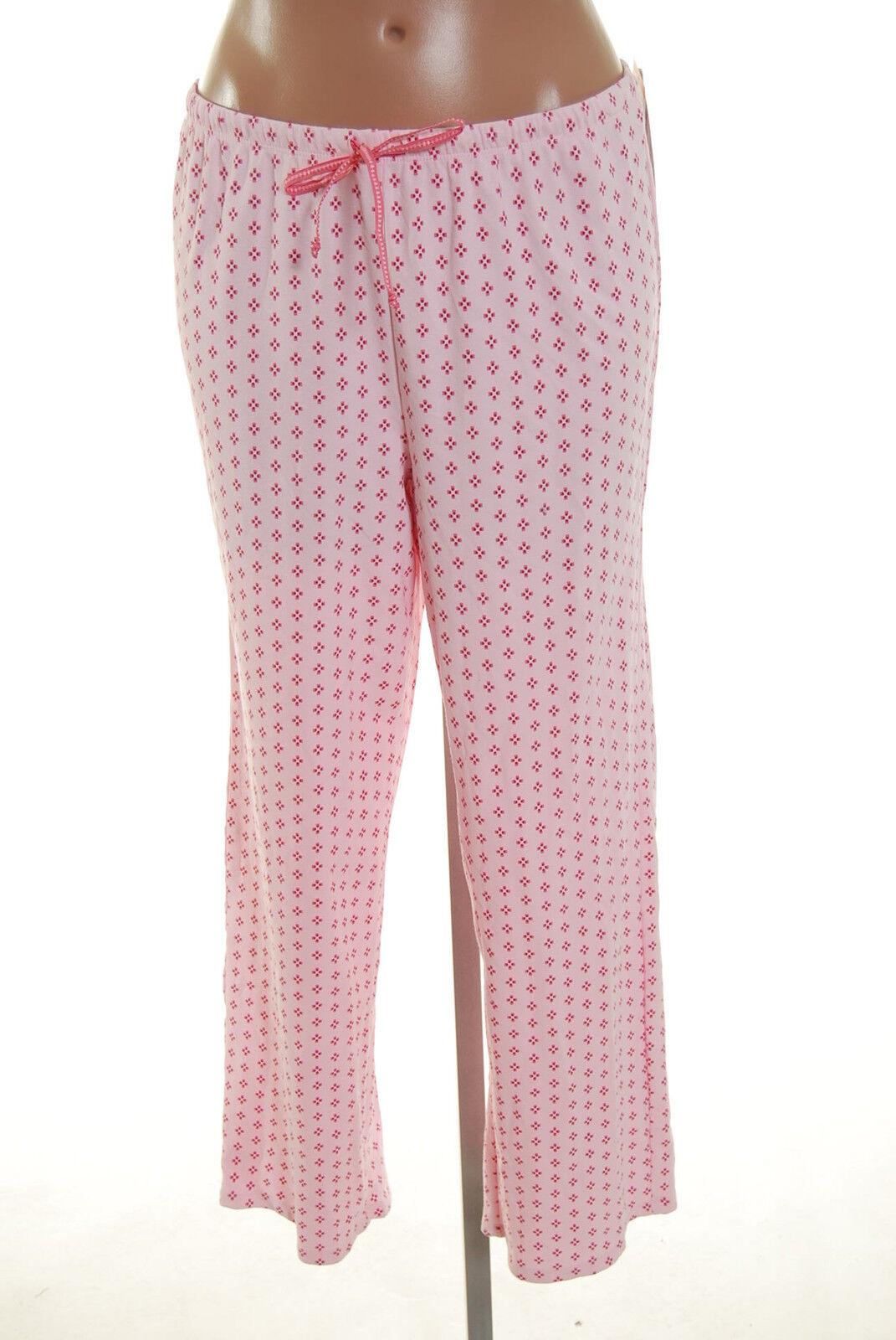 Alfani Intimates Pink Flower Ribbon Lounge Pants Pajama Sleepwear