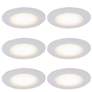 12 Pack Commercial Electric 6 In White Recessed Shower Trim