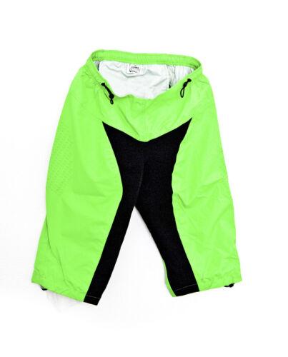 CHIBA Fahrrad-Regenhose Shorts Kurz Neongrün Wasserfest Gepolstert versch Größen