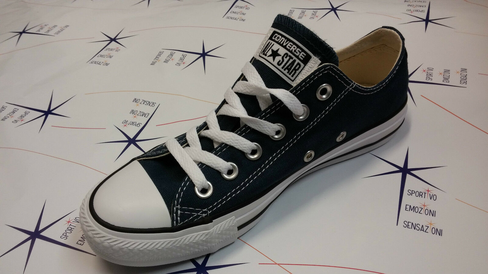 Zapatos  Converse Blu All Star Ox  Blu Converse Navy Canvas Tela Zapatillas  M9697 232 ed3b6b