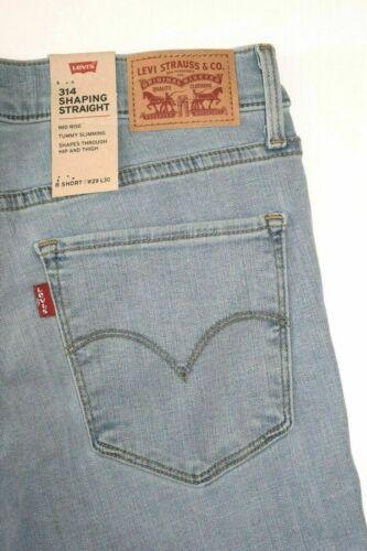 Light Blue Levi/'s 314 Women/'s SHAPING Straight Jeans 196310056