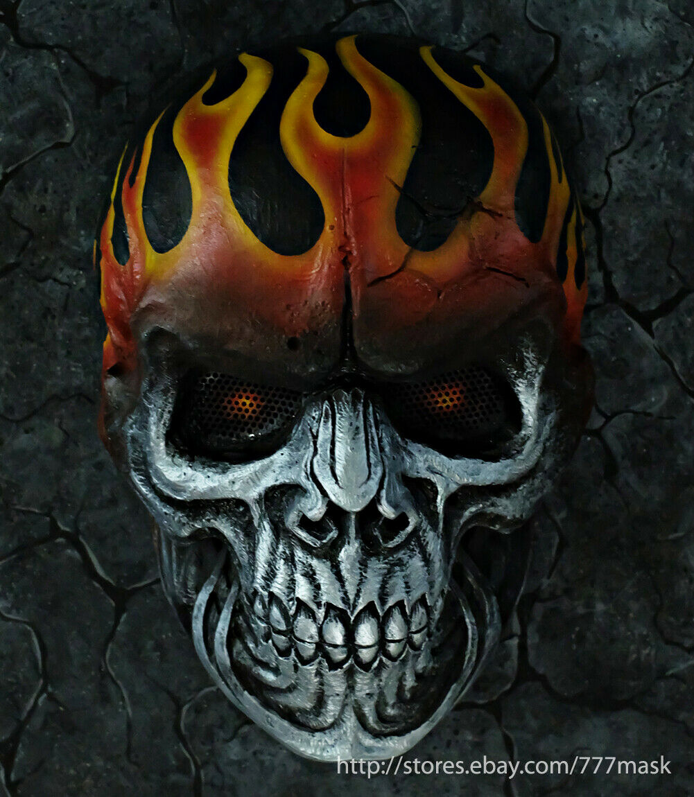 Reaper Skull Airsoft Mask Full Face Tactical Motorcycle Costume Cosplay DA701