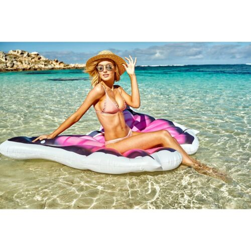 Airtime Inflatable Float Air Bed Butterfly Pool Beach Swimming Pink