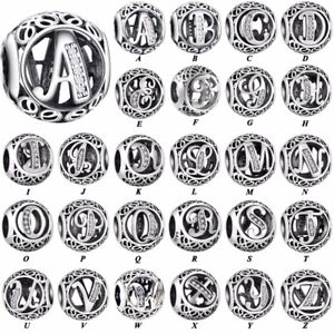 26-Letters-CZ-S925-silver-charms-dangle-pendant-bead-For-bracelet-chain-bangle