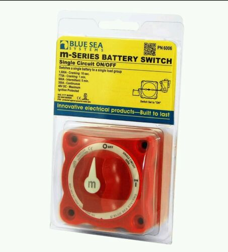 Blue Sea 6006 M-Series Battery Switch Single Circuit On//Off Marine Boat FASTSHIP