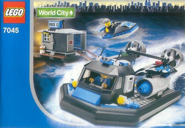 Nouveau LEGO Town Ville mondiale Harbor 7045 Hovercraft Hideout Scellé navires World Wide