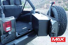 JK556 - 2007-2017 Jeep Wrangler 2dr 4dr Black Aluminum Tailgate Storage Box