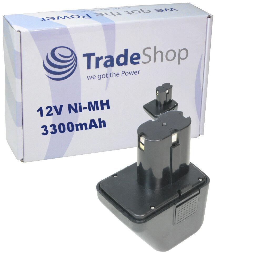 Trade-Shop AKKU 12V Ni-Mh 3300mAh 39,6Wh für G12 070291510 Master Akku G12 12 V