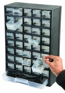Wall Mounted Garage Cabinet Workshop Organiser Screws Storage Trays