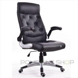 code promo c6a53 0ad3e Détails sur PRAGA Chaise fauteuil de bureau siége pour ordinateur  ergonomique direction pc