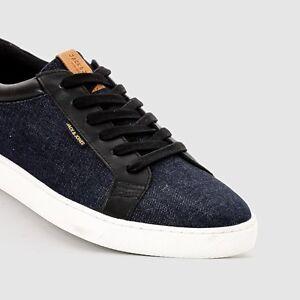 6717e02d89f2fe Mens Jack   Jones Sable Denim Sneaker Shoes Pumps Trainers Designer ...