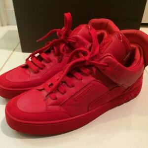 b2c096b90bb23 LOUIS VUITTON SNEAKERS RED MEN KANYE WEST COLLAB DON S 8.5 NEW RARE ...