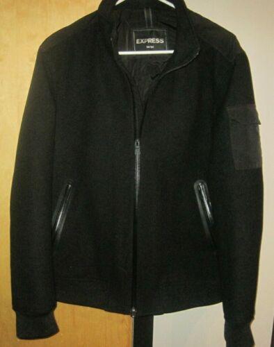 Winter Mens Stylish Coat Jacket Express Medium Bla