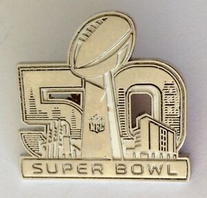 NFL-50th-Super-Bowl-American-Football-Gridiron-Pin-Badge-Rare-Authentic-N9