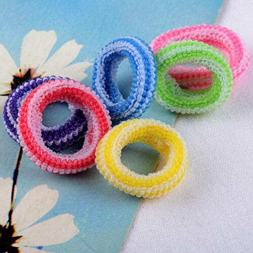 100Pcs Women Girl Hair Band Ties Elastic Rope Ring Hairband Ponytail Holder!