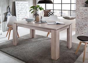 Das Bild Wird Geladen Esstisch Ausziehbar Holztisch Eiche Sonoma  160 200 Kuechen
