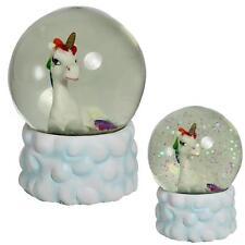 65mm Regenbogen Einhorn & Wolke Wasserball Glitzer / Schneekugel - für Mädchen