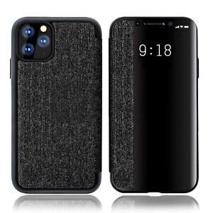 Handy Hülle für iPhone 11 Pro Max Clear View Flip Cover Case Schutzhülle Tasche