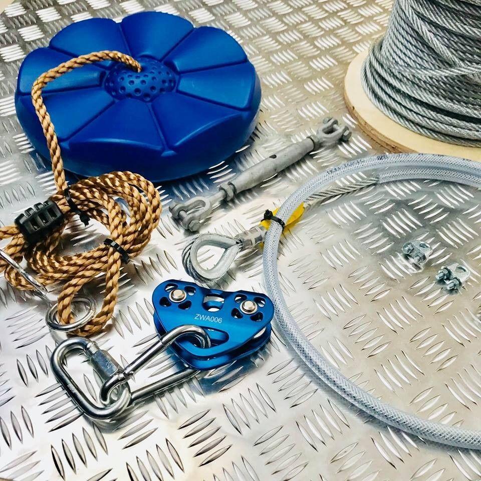 Kit de cable de cremallera de jardín 15 metro de largo 8MM Kit De Alambre Jardín de cremallera, Kit de línea zip