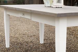 Details zu Esstisch Tisch Massiv Esszimmer Landhaus 200 cm mod.01  weiss/grau/Treibholz Neu