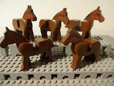 Lego® 10 Pferde Sammlung weiß schwarz Western Tiere Pferd Horse 4493c01
