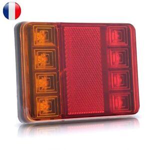 Paire-8-LED-Feu-Feux-Arriere-Lumiere-Lampe-Eclairage-Pr-Chariot-Remorque-Voiture
