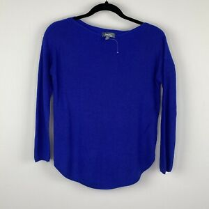 Neiman-Marcus-Women-039-s-Sweater-Size-XS-Blue-Cashmere-Blend-Casual-NWOT