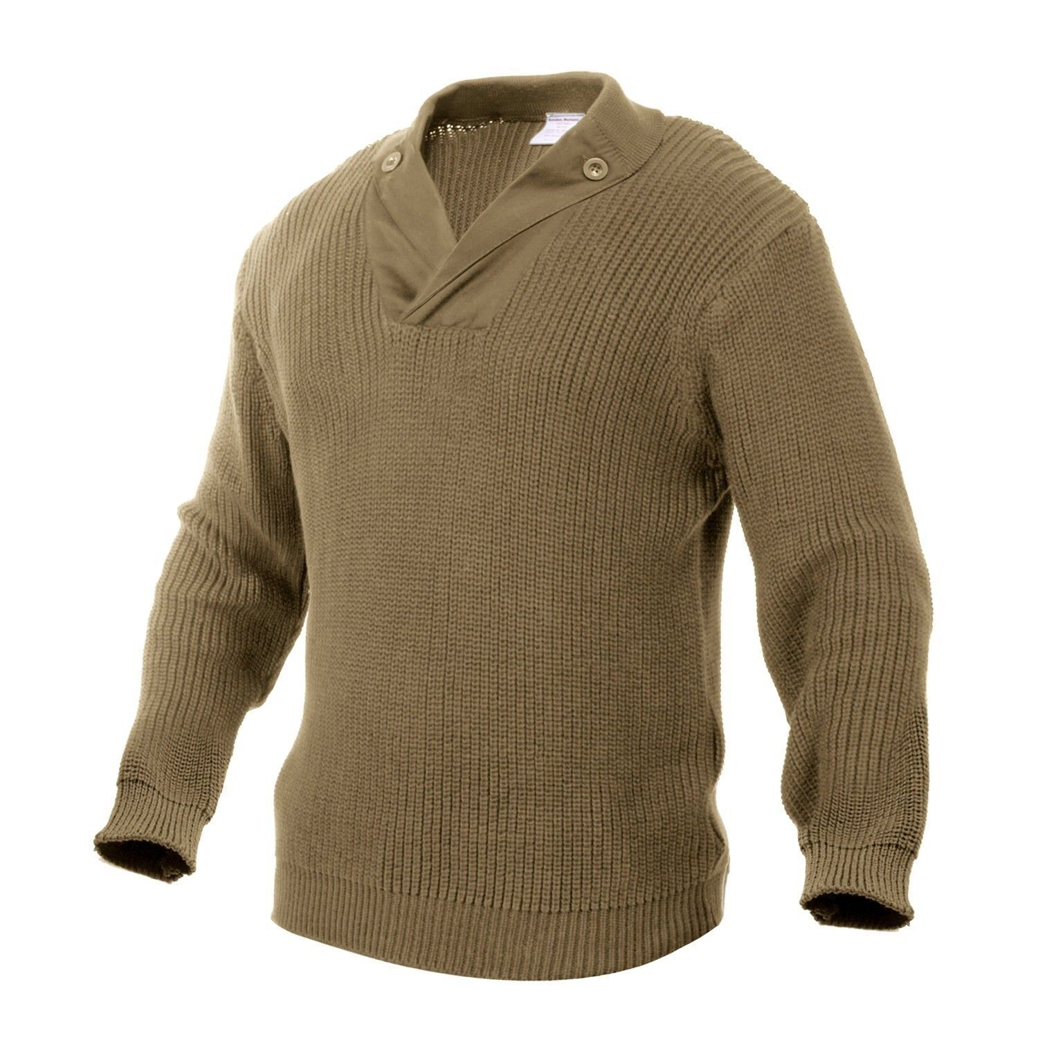 ROTHCO 5349 WWII VINTAGE KHAKI MECHANICS SWEATERS 100% KNIT COTTON  SIZES S-3X
