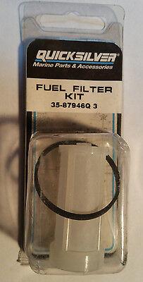 New Old Stock OEM Quicksilver 35-87946Q 3 Mercury Mercruiser FUEL FILTER KIT