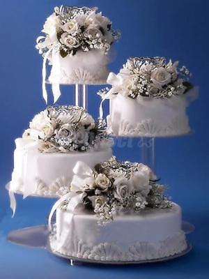 4 TIER CASCADE WEDDING CAKE STAND STYLE R400 A