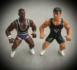 X2-Hornby-Gladiators-Action-Figure-Bootleg-Knock-Off-Bundle-Wrestling-Retro