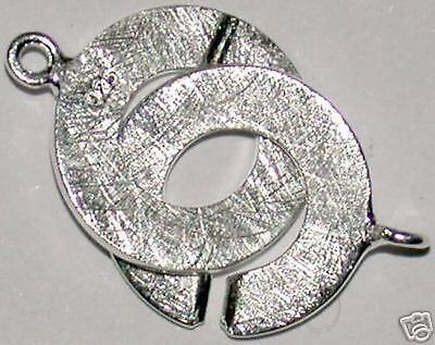 Brossé 27010 /_ 8 mm RING-RING-Fermeture 925 Argent