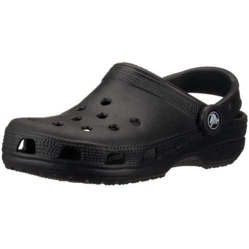 Crocs Classic Clogs Slides Men/'s and Women/'s Unisex Casual Sandals Black