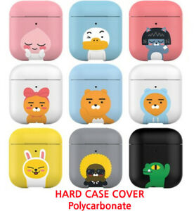 Kakao Friends Apple Airpods 2 Case Cover Protective Hard Front Led