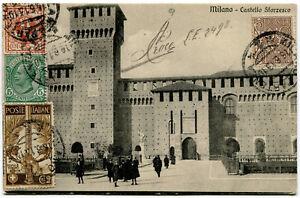 1911-Cinquantenario-dell-039-Unita-d-039-Italia-2-cent-su-Cartolina-Milano-dest-Belgio