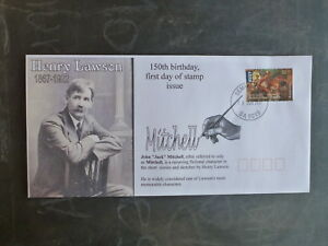 2017-HENRY-LAWSON-150tH-BIRTHDAY-FDC-FIRST-DAY-COVER-MITCHELL