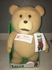 "New Ted Talking 16"" Plush Adult Teddy Bear Moving Mouth Says 5 Phrases Explicit"