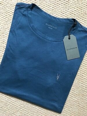 ALLSAINTS TONIC CREW DARK TEAL BLUE T-SHIRT TOP XS S M L XL